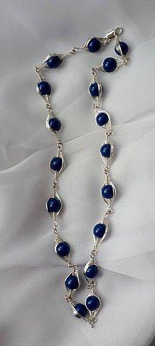 Náhrdelníky - Modrý clariskový náhrdelník - 6230226_