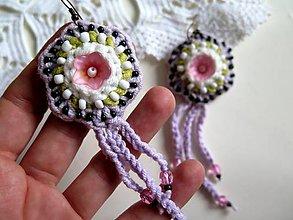 Náušnice - purple chic náušnice - 6227788_