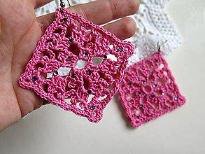 Náušnice - výrazné náušnice v ružovej - 6228222_