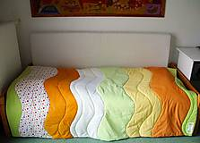 Úžitkový textil - Farebný príliv - prehoz na posteľ 135 x 200 cm - 6229792_