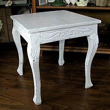 Nábytok - Biely stolček - predaný - 6227909_