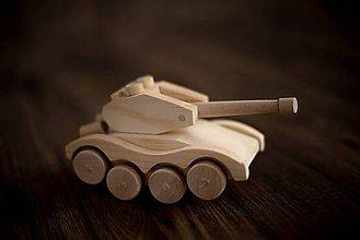 Hračky - drevený tank - 6229037_