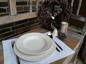 Úžitkový textil - Prestieranie Pure Beauty biele - 6228015_