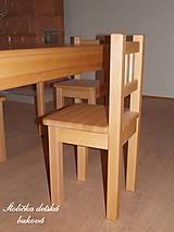 Nábytok - Detská stolička - BUKOVÁ - 6232035_