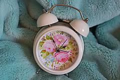 - Biely budík Blossom - 6233599_
