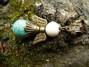 Náhrdelníky - Anjel - koral a tyrkenit 2 - 6230613_