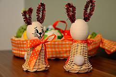 Dekorácie - Veľkonočný zajačik oranžový II. - 6233572_