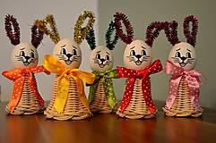Dekorácie - Veľkonočný zajačik oranžový II. - 6233573_