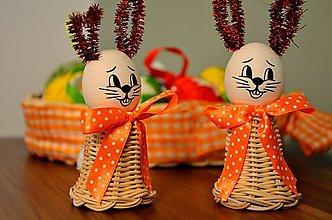 Dekorácie - Veľkonočný zajačik oranžový II. - 6233571_