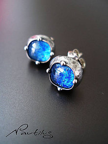 Náušnice - Malé modrééé  - 6233465_