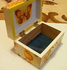 Krabičky - Detská krabička - kuriatká - 6232944_