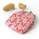 Peňaženky - Peňaženka Ružový cik-cak - 6230965_