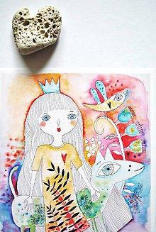 Grafika - princezná a jej psík - 6231086_