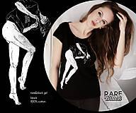 """Tričká - Rare&black """"Girl"""" tričko / čierna / L - 6234858_"""