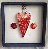Sady šperkov - Srdiečkový set červený - 6236747_