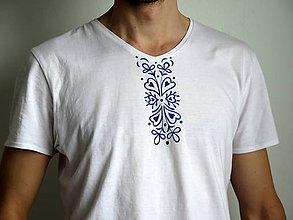 Oblečenie - pánske tričko s ornamentom - 6234433_