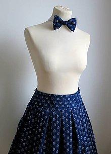 Sukne - sukňa a motýlik z modrotlače - ON a ONA Modrotlačoví - 6237743_