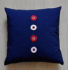 Úžitkový textil - vankúš-modrý - 6235981_