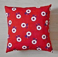 Úžitkový textil - vankúš-kvietkovaný - 6235999_