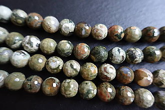 Minerály - Jaspis oceánsky fazetovaný 10mm - 6235620_
