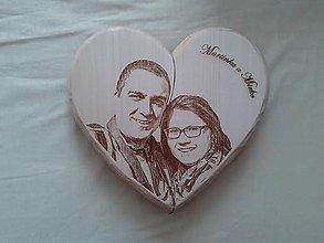 Dekorácie - Srdce s fotkou- otváravé - 6237060_