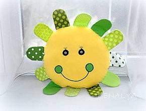 Hračky - Usmievavé slniečkO 30cm+lúče 7cm - 6240072_