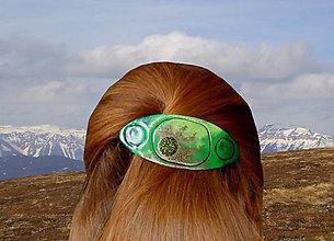 Ozdoby do vlasov - Zelenoočko - 6241715_