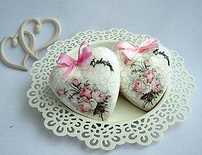 Darčeky pre svadobčanov - Srdiečka svadobné -7 cm - 6241446_