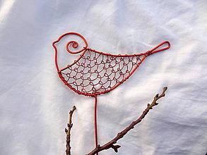 Dekorácie - vtáčik medenáčik.... - 6238461_