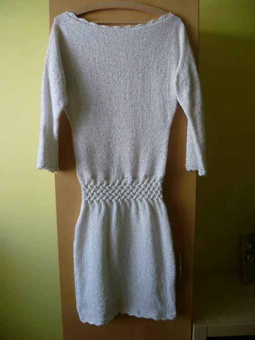 0f19b4dc612e VÝPREDAJ !!! biele pletené šaty   AngelikaR. - SAShE.sk - Handmade Šaty