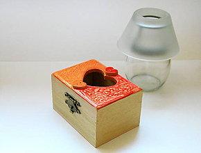 Krabičky - Mandarínková šperkovnica - 6240219_