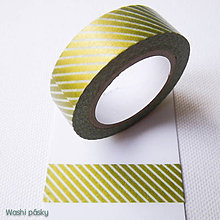 Papier - zlaté pásiky XL - 6240148_