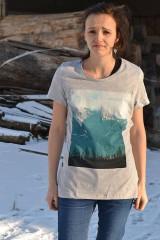 "- Dámske sivé tričko "" Alaska blau"" - 6241342_"