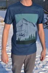 "- Pánske modré tričko ""Alaska blanc"" - 6241459_"