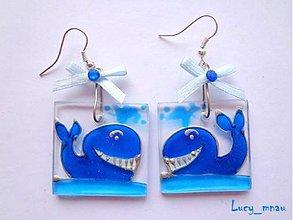 Náušnice - Náušnice veľryby :) - 6241202_