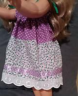 Bábiky - Šaty na ramienka, klobúk, svetrík - 6240769_