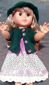 Bábiky - Šaty na ramienka, klobúk, svetrík - 6240773_