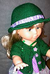 Bábiky - Šaty na ramienka, klobúk, svetrík - 6240775_