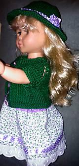 Bábiky - Šaty na ramienka, klobúk, svetrík - 6240778_