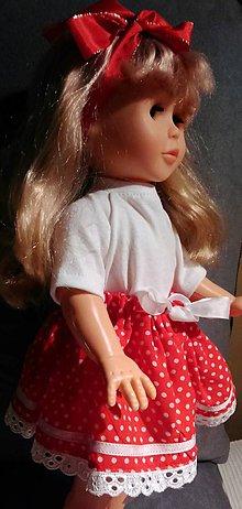 Bábiky - Červená suknička a tričko - 6240723_