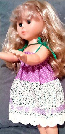 Bábiky - Šaty na ramienka, klobúk, svetrík - 6240770_
