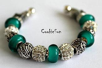 Náramky - Náramok Pandora Emerald&Silver... - 6240358_