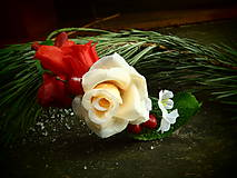 Ozdoby do vlasov - čelenka z ruží - 6239483_