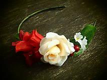 Ozdoby do vlasov - čelenka z ruží - 6239485_