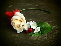 Ozdoby do vlasov - čelenka z ruží - 6239486_
