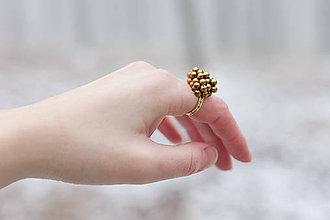 Prstene - Prsteň guličkový zlatý základ - 6243535_