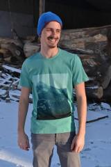 """- Pánske tyrkysové tričko """" Alaska blau"""" - 6242051_"""
