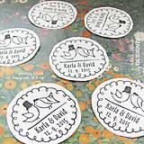 Drobnosti - Vtáčky: svadobná pečiatka prům. 4 cm - 6245009_