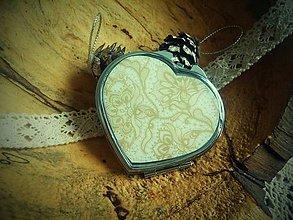 Zrkadielka - Srdiečkové zrkadielko v jemných odtieňoch - 6242641_