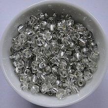 Korálky - Rokajl 4 mm s prieťahom-20g - 6247720_
